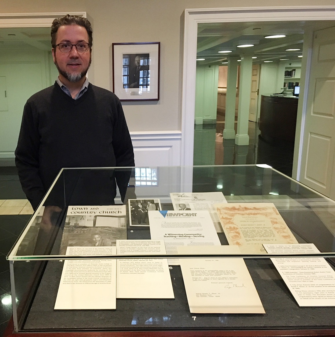 Bridwell Library archivist Tim Binkley
