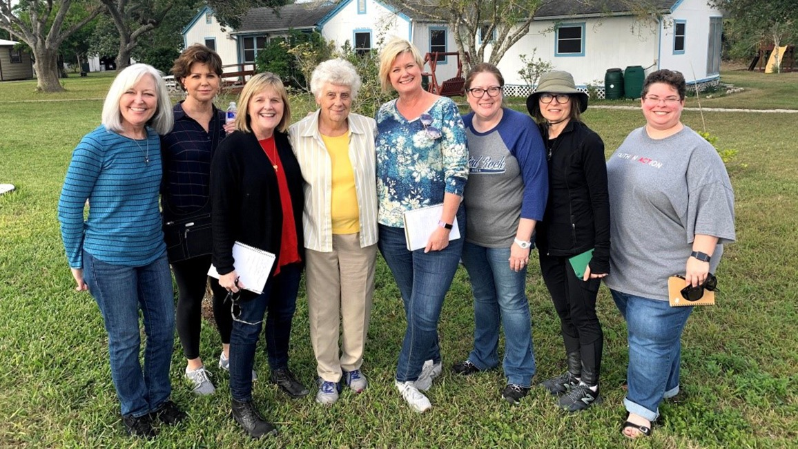 Patty Froehlich, Karen Reid, Betty Petkovsek, Sister Zita, Liz Applegate, Katy Gill, Jenifer Williams and Anneliese Griego