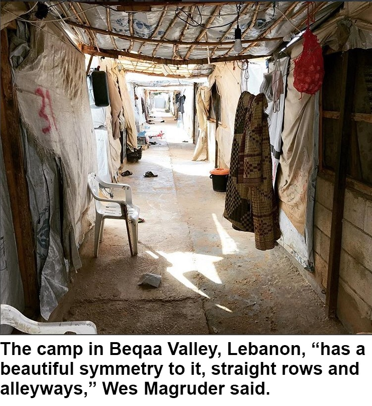 Straight rows of the Lebanese camp