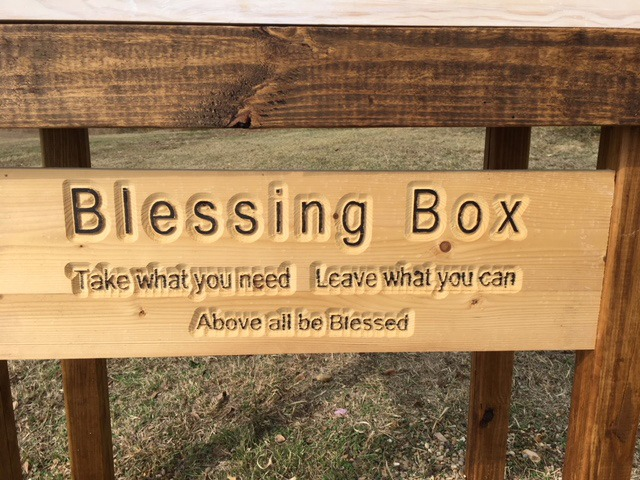 Blessing box sign