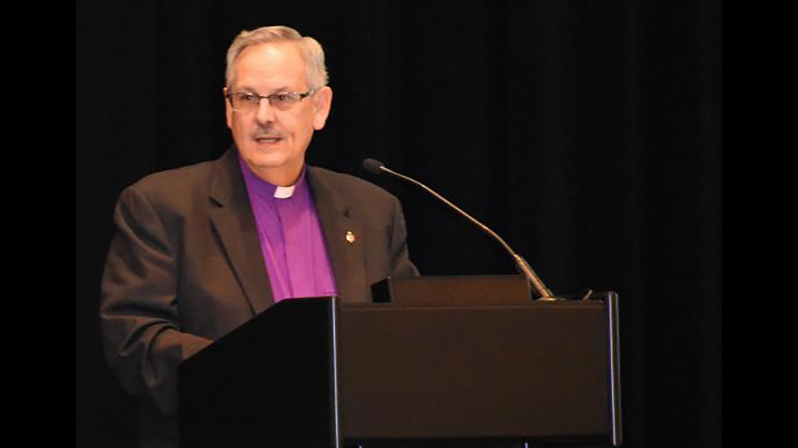 Council of Bishops President Bruce Ough,