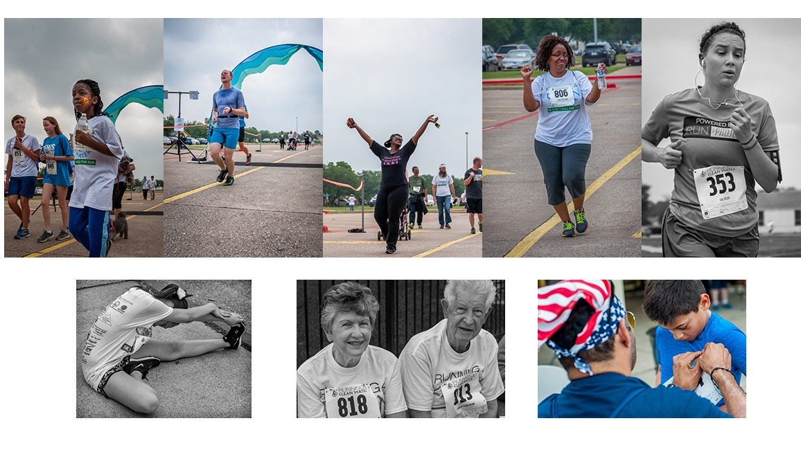 montage of running pics