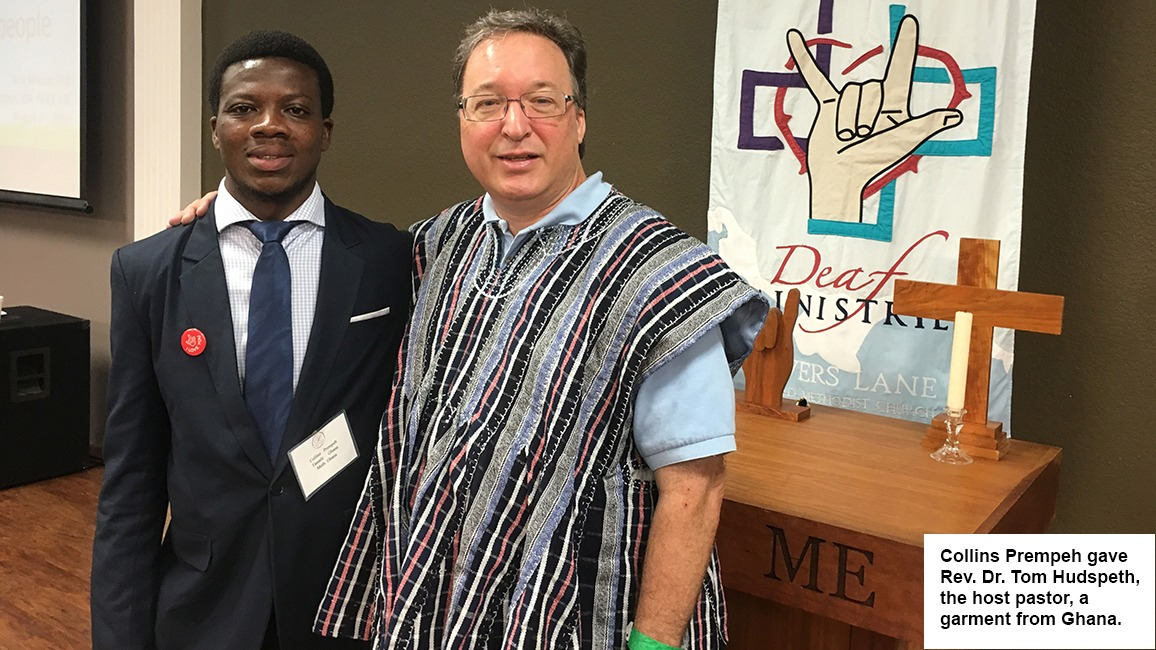 Collins Prempeh and Rev. Dr. Tom Hudspeth