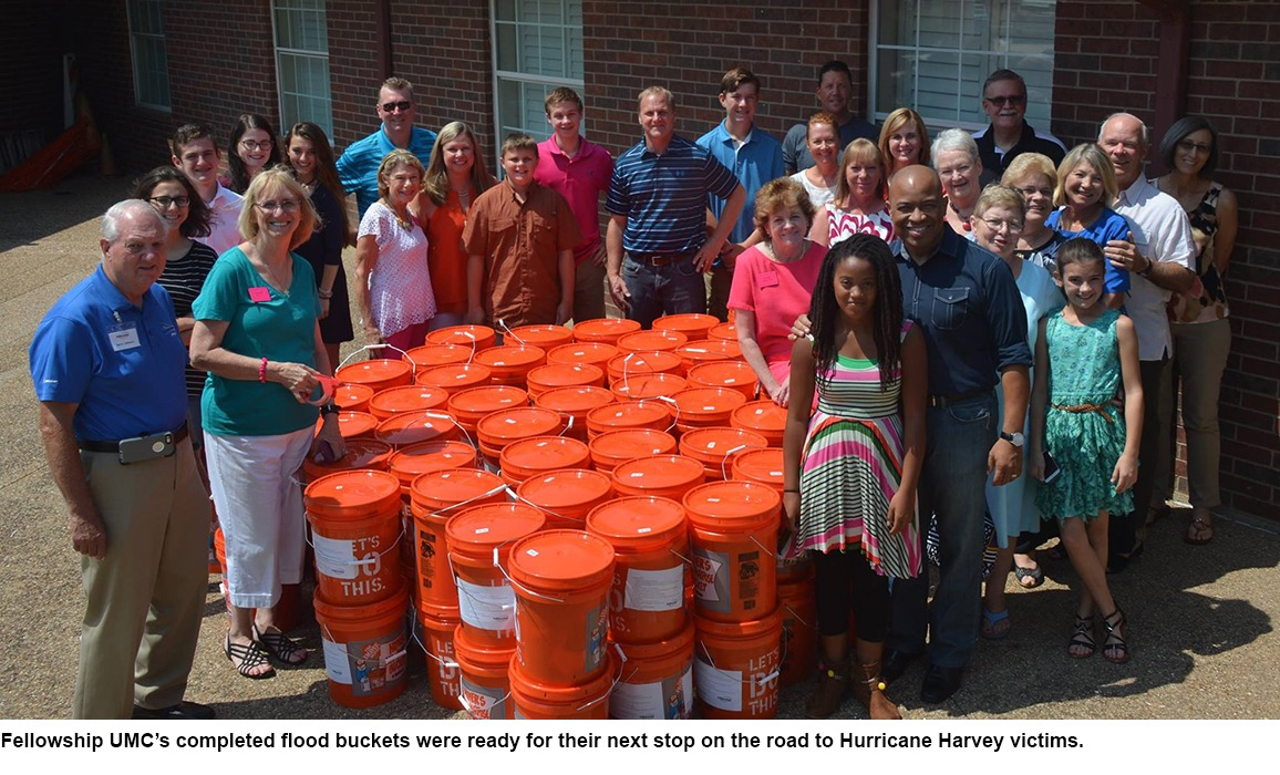 Fellowship UMC's completed flood buckets