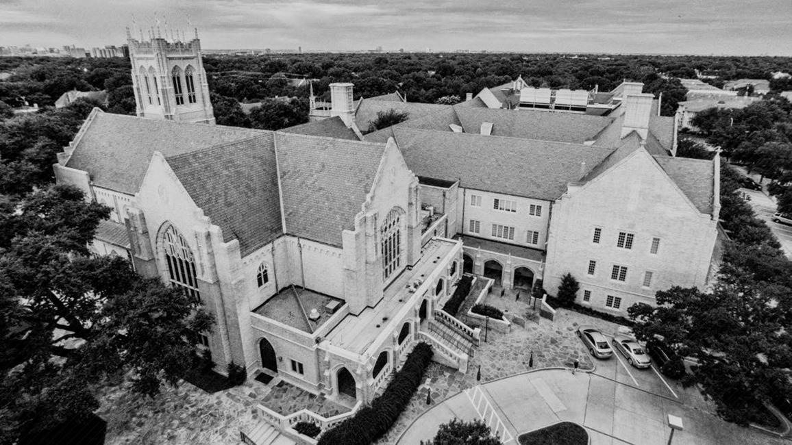 Aeriel view of Highland Park UMC