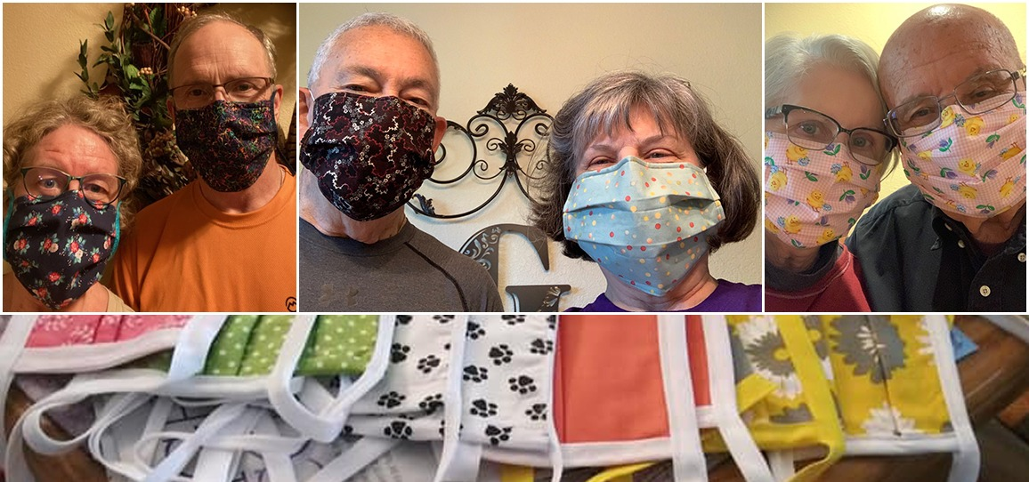 Mask makers from Wesley Greenville