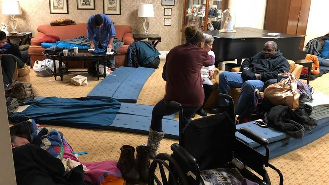 Homeless take shelter in Oak Lawn UMC