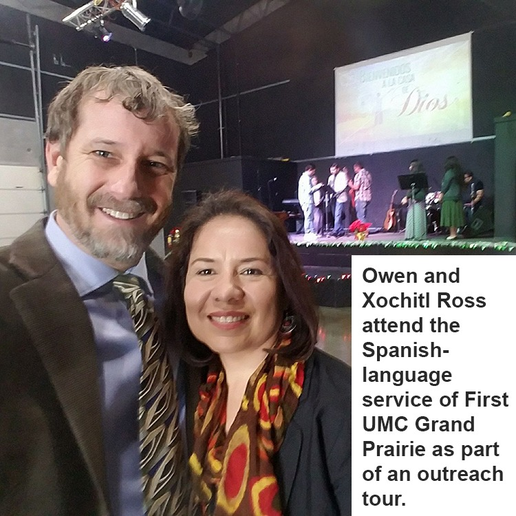 Owen Ross and wife on an outreach tour.
