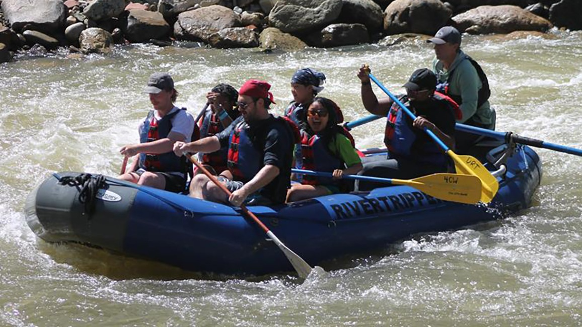 Katie Pryor rafting