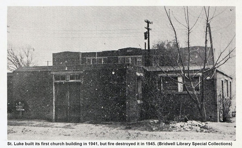St. Luke's first church