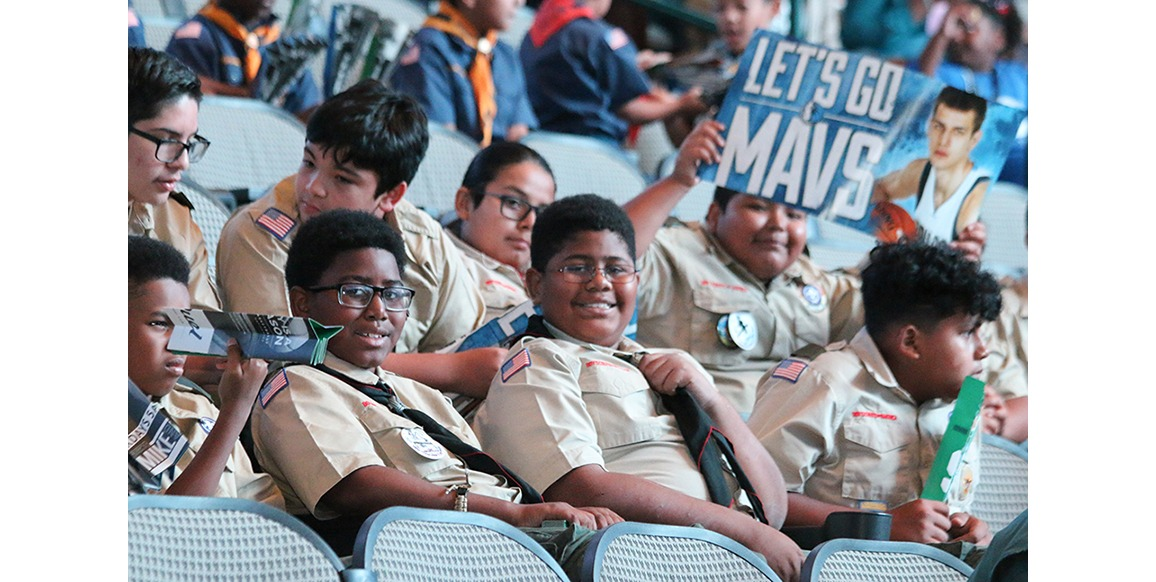 Boys Scouts in the stands