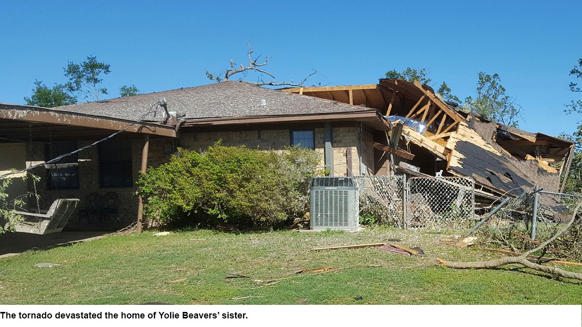 House damaged by tornado