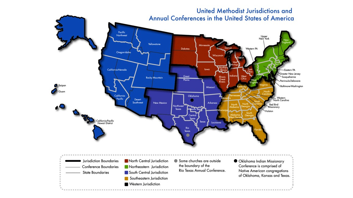 UMC conference map
